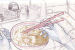 Hand Sketches: Ramen by O-Kei