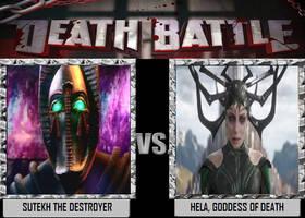 Death Battle - Sutekh VS Hela by DoctorWhoOne