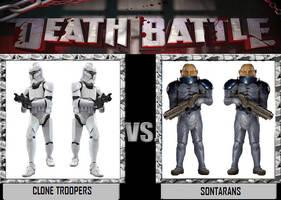Death Battle - Clone Troopers VS Sontarans by DoctorWhoOne