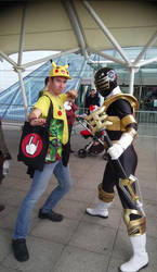 Pika Guy and Gold Zeo Ranger [MCM October 2018] by DoctorWhoOne