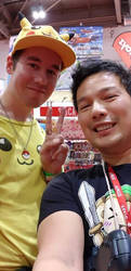 Me and Hideki from Tokyo Toys by DoctorWhoOne