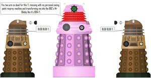 Mr Blobby Dalek [Doctor Who] by DoctorWhoOne