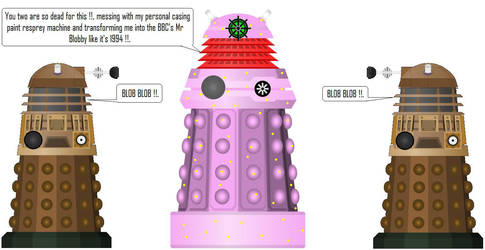 Mr Blobby Dalek [Doctor Who] by DoctorWhoOne