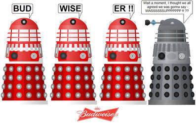 Doctor Who - Budwiser Daleks by DoctorWhoOne