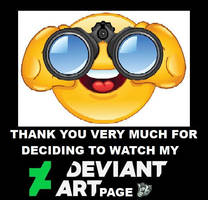 Thank you for watching my DeviantArt page by DoctorWhoOne
