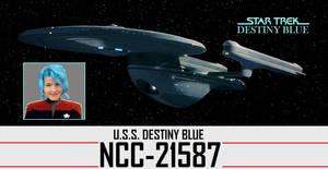 Star Trek - USS DestinyBlue NCC-21587 by DoctorWhoOne