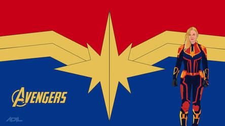 Captain-Marvel (Marvel Cinematic Universe) by crazeeadil