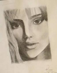 Portrait of a woman by raynesavino