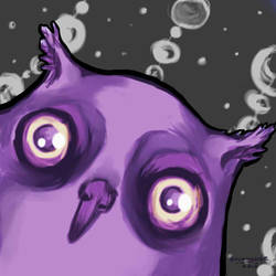 Hyperactive Owl by Grungguuse