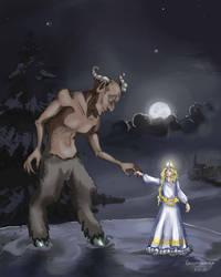 Krampus und das Christkind by Grungguuse