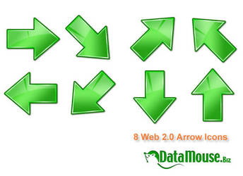 Green Arrow Icons by datamouse