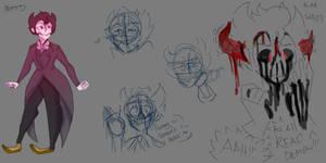 -Bendy sketch for something- by MoonlightMandy