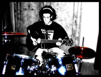 Guitar drummer by Zetiem
