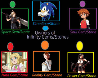 Sonic and final fantasy Owners Of Infinity Gems by heroicsonnyjim