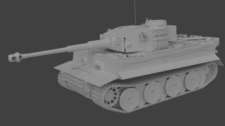 Tiger I Early - untextured by marinkognito2