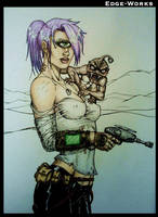 Leela in Fallout - coloured by Edge-Works
