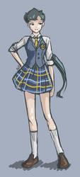 Seiya School Uniform Sketch by daisydeadpetal5
