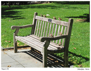 Bench - Philadelphia by CharlieFleed