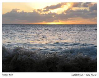 Sunset Beach 2 - Hawaii by CharlieFleed