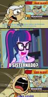 Twilight's reaction of the Sisternado by EarWaxKid
