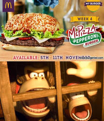Donkey Kong and Diddy Saw McPizza Burger by EarWaxKid
