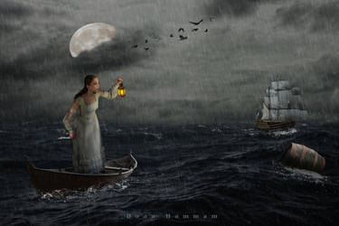 Stormy sea by DoaaHammam