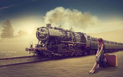 The train by DoaaHammam