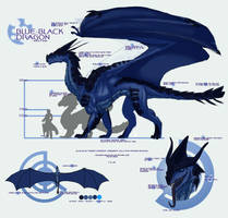 Blue-Black Dragon by Haikera-Baiketsu