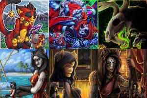 Furcadia Portraiat Collage January 2015 by DarkEcoKat