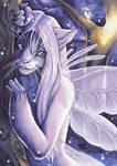 ACEOFursXchange September 2015 - Astrocat by DarkEcoKat