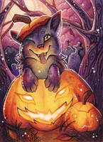 ACEO Commission - BRTWolf2010 by DarkEcoKat
