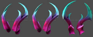 June Donor Bonus - Tempest Horns by DarkEcoKat