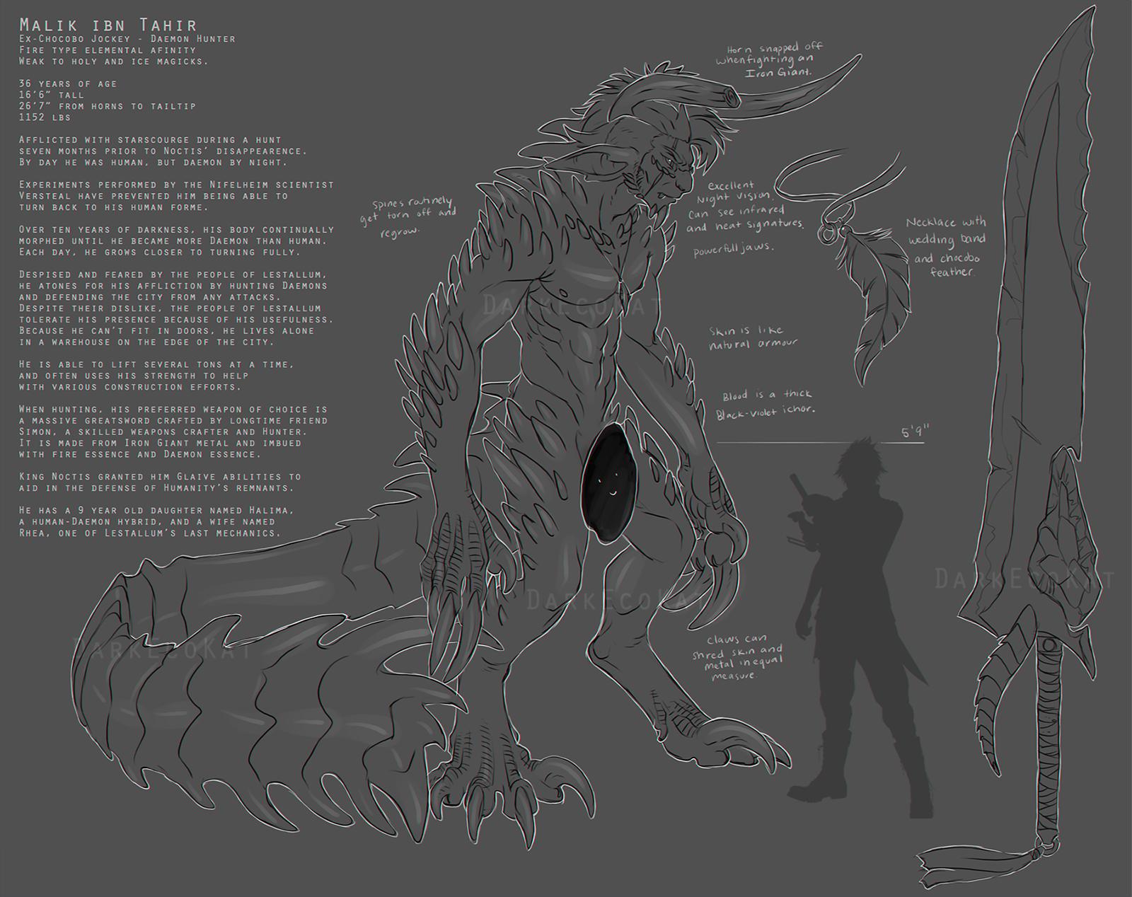 Daemon Malik Ref by DarkEcoKat