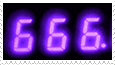 666 number -stamp- by KIngBases