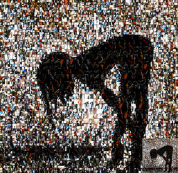 Silhouetted Woman Photomosaic by stellamegallery