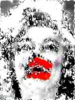 Marilyn in Black and White with Red by stellamegallery