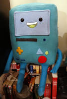 BMO is ready to be taken home and loved!! by JanellesPlushies