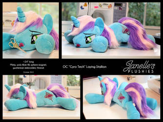 OC Gyro Tech laying plush by JanellesPlushies
