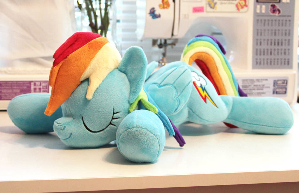 Sleeping Rainbow Dash *sold* by JanellesPlushies