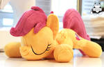 Sleeping Scootaloo with Cutie Marks *Sold* by JanellesPlushies