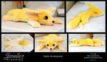 Fennec Fox laying plush by JanellesPlushies