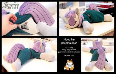 Sleeping Maud Pie by JanellesPlushies