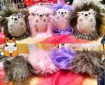 Hedgehog babies by JanellesPlushies