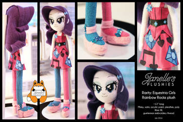 Equestria Girls Rainbow Rocks Rarity by JanellesPlushies