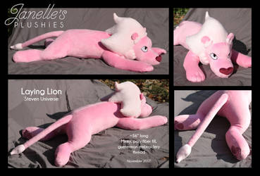 Laying Lion plush by JanellesPlushies