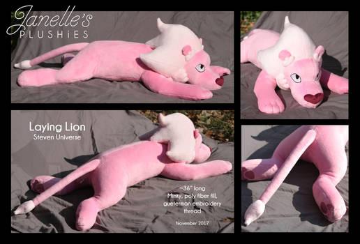 Laying Lion plush by JanellesPlushies