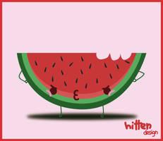 Watermelon ggrrr by HittenDesign
