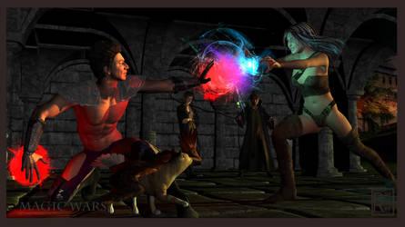 Magic War by FreyrStrongart