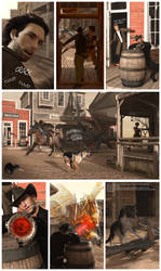 Strange things happening in the Good Old West by FreyrStrongart