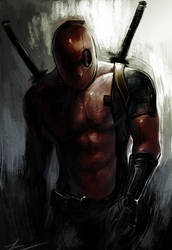Grungy Deadpool by boxno